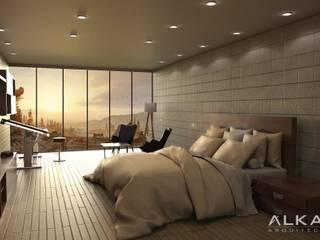 Habitación: Recámaras de estilo  por ALKAR arquitectos