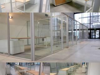 escritorios en MDF con patas metalicas:  de estilo  por Araucaria Amoblamientos