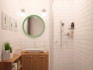 Scandinavian style bathroom by Белый Эскиз Scandinavian