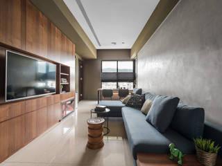 齊禾設計有限公司 Living room Green