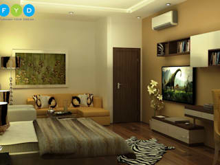 Being bold in your decorative choices is essential for a small space.. Modern style bedroom by FYD Interiors Pvt. Ltd Modern