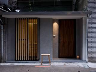 齊禾設計有限公司 Ingresso, Corridoio & Scale in stile minimalista Cemento armato Grigio