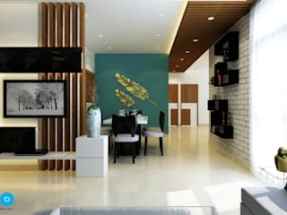 A Room Should Never Allow The Eye To Settle In One Place. It Should Smile At You And Create Fantasy. Modern living room by FYD Interiors Pvt. Ltd Modern