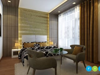 A Room Should Never Allow The Eye To Settle In One Place. It Should Smile At You And Create Fantasy. Modern style bedroom by FYD Interiors Pvt. Ltd Modern