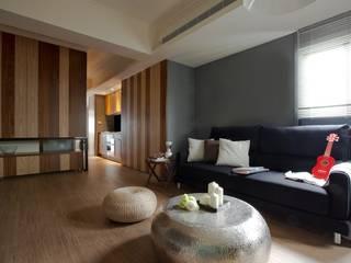 齊禾設計有限公司 Salas de estilo minimalista Compuestos de madera y plástico