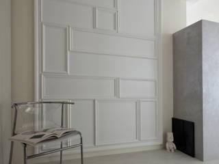 ห้องโถงทางเดินและบันไดสมัยใหม่ โดย 齊禾設計有限公司 โมเดิร์น
