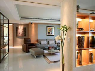 大直黃宅 现代客厅設計點子、靈感 & 圖片 根據 四一室內裝修有限公司 現代風