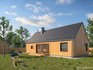 Дом для молодой семьи - 100 м2 от Архитектор Тимофей Раков Скандинавский