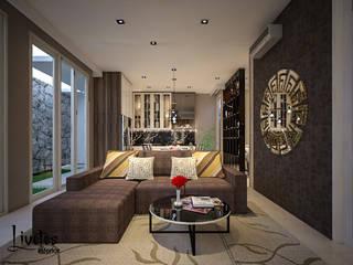 Mrs. Lenny Private Residential PT Kreasi Cemerlang Abadi Ruang Keluarga Modern Kayu Brown