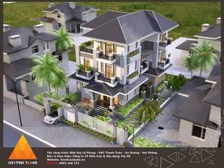 Phối cảnh kiến trúc mặt ngoài:  Nhà gia đình by KIẾN TRÚC TÂY HỒ