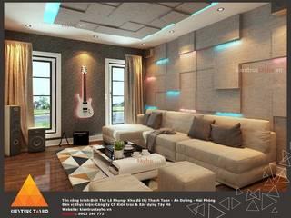 Phòng khách view 3:  Phòng khách by KIẾN TRÚC TÂY HỒ