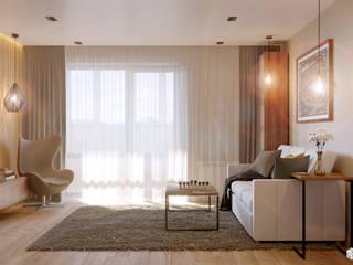 Ruang Keluarga oleh 2GO Design Studio, Minimalis