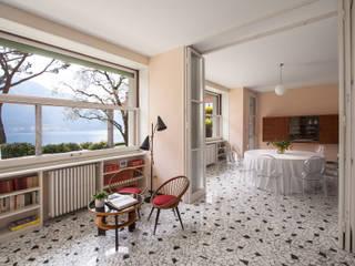 Chantal Forzatti architetto Salon moderne Marbre Multicolore