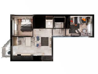 Квартира 54 м.кв.: Коридор и прихожая в . Автор – Шамисова Анастасия