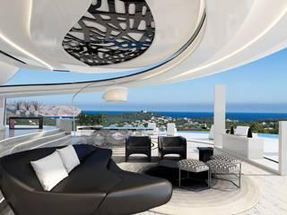 Salones de estilo moderno de Miralbo Urbana S.L. Moderno