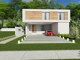 Condominios de estilo  por Lorena Cavalcanti Arquitetura , Moderno