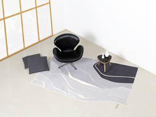LANDSCAPE 001 FLAT´N - Shape and Style WohnzimmerAccessoires und Dekoration Wolle Grau