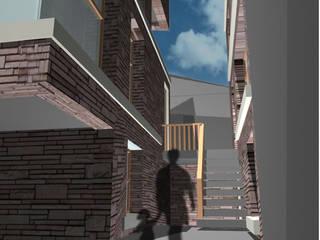 Twee woningen Scheveningen:  Huizen door YA Architecten, Modern