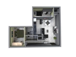 Apartamento en el centro de la ciudad de Sergio Nisticò Moderno
