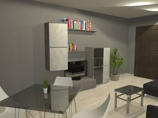 Apartamento en el centro de la ciudad Comedores de estilo moderno de Sergio Nisticò Moderno