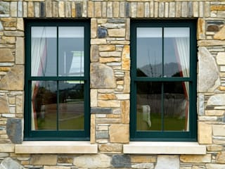 Next Generation Aluminium Sliding Sash Windows Marvin Windows and Doors UK Windows & doors Windows Aluminium/Seng Green