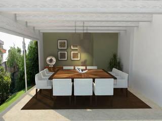 Comedor en casa CDMX:  de estilo  por Interiores 25