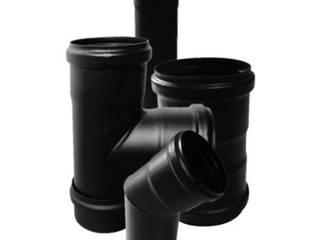 CANNE FUMARIE PER STUFE A PELLET Pareti & Pavimenti in stile industriale di CANNE FUMARIE ONLINE Industrial