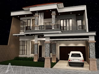 Rumah Bergaya Etnik yang Dikemas Lebih Modern Oleh AIRE INTERIOR Modern