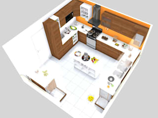 Cocina familiar: Cocinas equipadas de estilo  por TAB Muebles