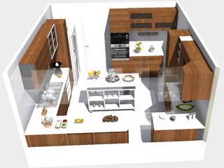 Cocina familiar: Muebles de cocinas de estilo  por TAB Muebles