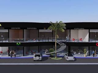 FACHADA: Estudios y oficinas de estilo  por DAC DISEÑO ARQUITECTURA Y CONSTRUCCION