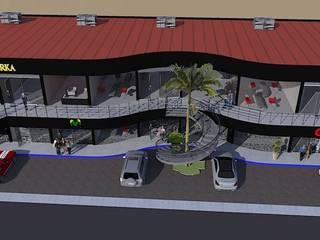 LOCALES COMERCIALES: Pasillos y recibidores de estilo  por DAC DISEÑO ARQUITECTURA Y CONSTRUCCION