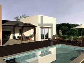 Casa Country Moderna: Casas unifamiliares de estilo  por Rohe Arquitectura+Diseño