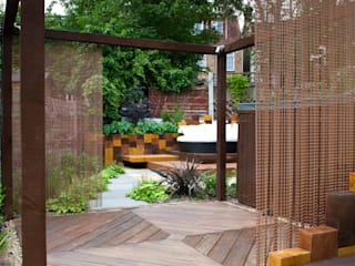 MODERN TOWN GARDEN EAST LONDON Jardines de estilo moderno de Earth Designs Moderno