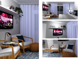 Quarto de casal moderno por Start Office - Design para pequenos negócios Moderno