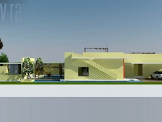 Heritage Design GROUP Casas de campo Concreto Amarillo