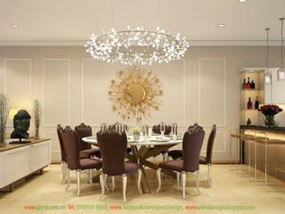 Thiết kế nội thất biệt thự Vinhomes Botanica Mỹ Đình B11-22: cổ điển  by Công ty TNHH Thiết kế và Ứng dụng QBEST, Kinh điển