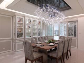 奢華新古典:  餐廳 by 哲嘉室內規劃設計有限公司, 古典風