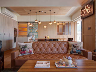 光陰的故事:  客廳 by 哲嘉室內規劃設計有限公司, 北歐風