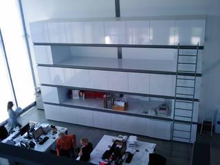 Interieur Drukkerij van Wijk:  Kantoorgebouwen door YA Architecten, Modern