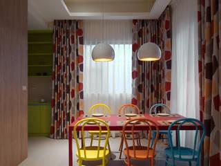 美式普普風:  餐廳 by 哲嘉室內規劃設計有限公司, 北歐風