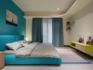 美式普普風:  臥室 by 哲嘉室內規劃設計有限公司, 北歐風