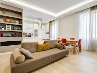 Merulana | minimal design: Soggiorno in stile  di EF_Archidesign