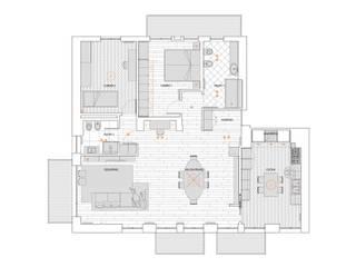 37VM_Ristrutturazione di un appartamento a Como di Chantal Forzatti architetto Moderno