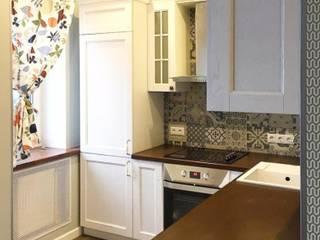 """Кухня с плиткой пэчворк с фасадами """"Ларс"""" из ясеня:  в . Автор – МИКСОН"""