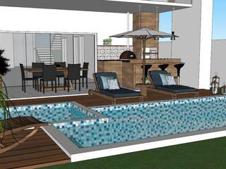 Residência Aruã Brisas - 001 Piscinas modernas por PIROLLO ARQUITETURA Moderno