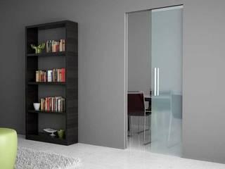 Inbouw schuifdeursystemen met gladde afwerking Moderne kantoor- & winkelruimten van BestFix-Schuifdeursystemen Modern