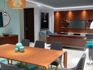 Living Room Comedores de estilo moderno de Nueve 3/4 Moderno