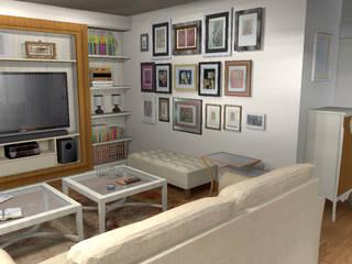 Sala de estar:  de estilo  de LUMELAR MUEBLES Y DECORACION
