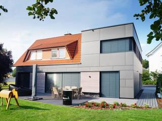 zweigeschossiger Anbau Moderne Häuser von AW+ Planungsgesellschaft mbH Modern